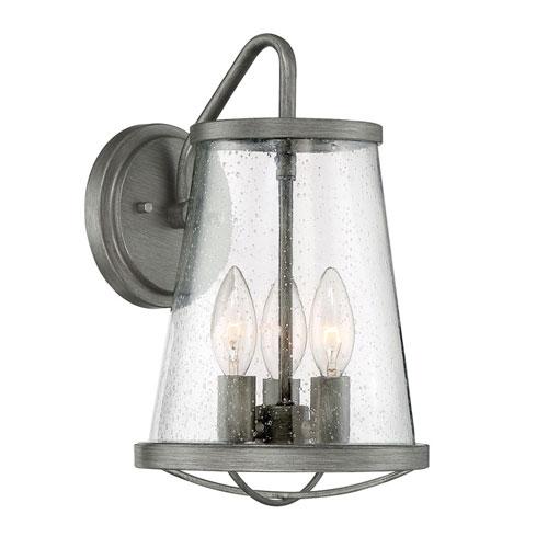 Designers Fountain Darby Weathered Iron Three-Light Outdoor Wall Lantern