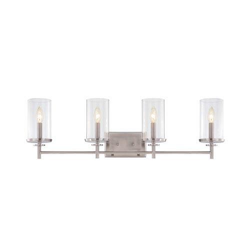 Harlowe Satin Platinum Four-Light Bath Bar