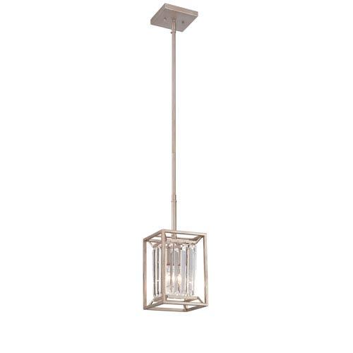 Linares Aged Platinum One-Light Mini Pendant