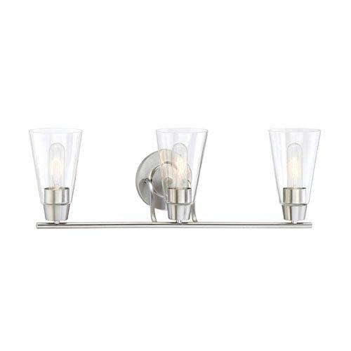 Designers Fountain Echo Satin Platinum Three-Light Vanity