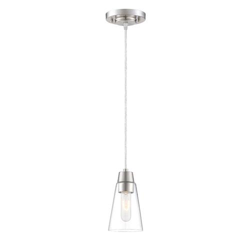 Echo Satin Platinum One-Light Mini Pendant