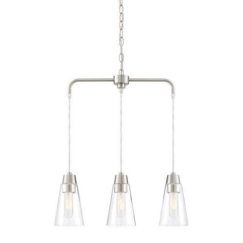 Designers Fountain Echo Satin Platinum Three-Light Chandelier