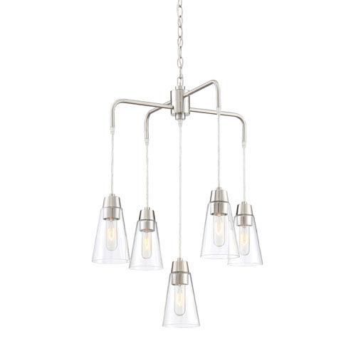 Designers Fountain Echo Satin Platinum Five-Light Chandelier