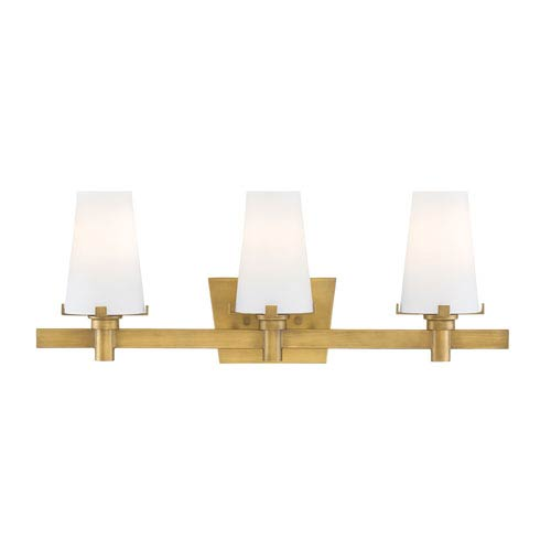 Hyde Park Vintage Gold Three-Light Vanity