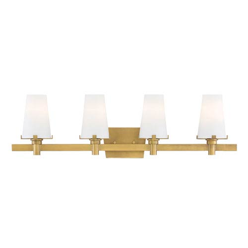 Designers Fountain Hyde Park Vintage Gold Four-Light Vanity