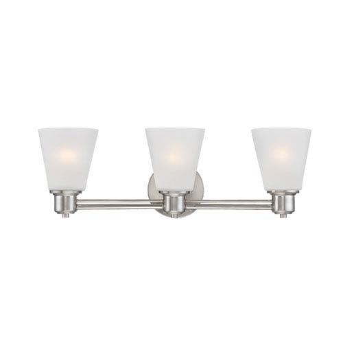 Designers Fountain Printers Row Satin Platinum Three-Light Vanity