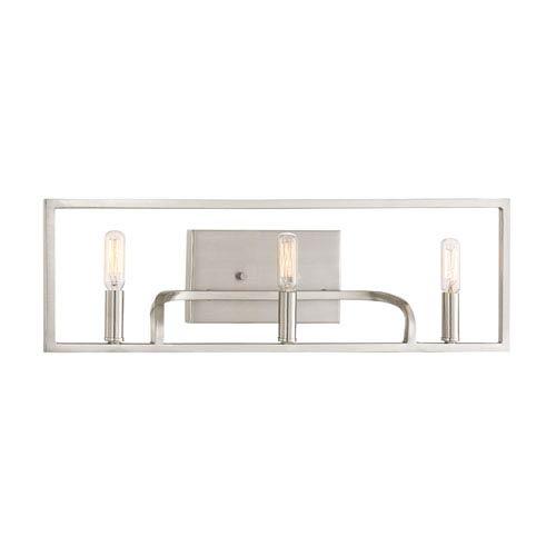 Designers Fountain Uptown Satin Platinum Three-Light Vanity
