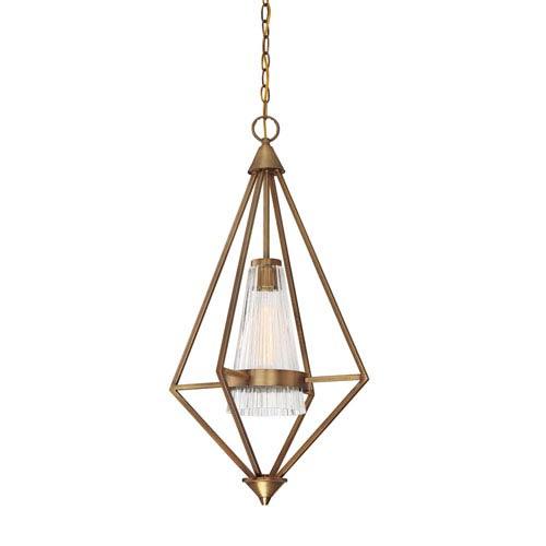 Montelena Old Satin Brass One-Light Pendant