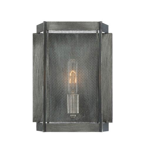Designers Fountain Baxter Weathered Iron One-Light Wall Sconce