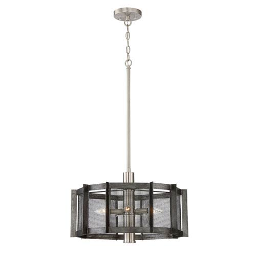 Designers Fountain Baxter Weathered Iron Three-Light 21-Inch Semi-Flush Mount