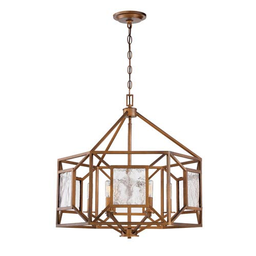 Designers Fountain Athina Gilded Bronze Four-Light 25-Inch Chandelier