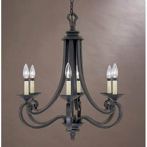Messina Natural Iron Six-Light Chandelier