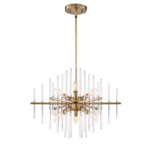 Designers Fountain Reeve Burnished Antique Brass Six-Light Chandelier