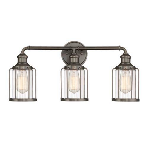 Anson Satin Copper Bronze Three-Light Bath Light