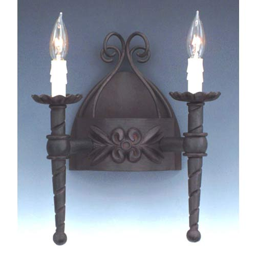 Alhambra Natural Iron Two-Light Sconce