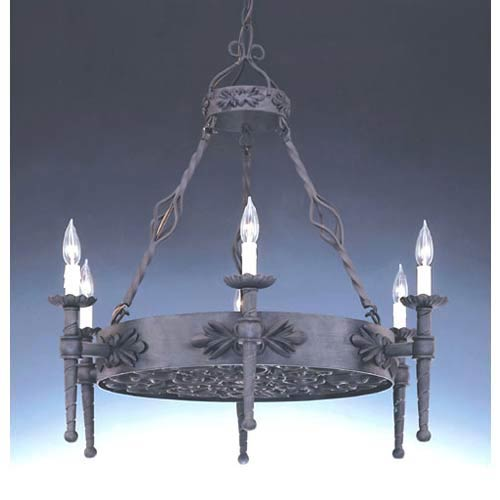 Alhambra Natural Iron Six-Light Chandelier
