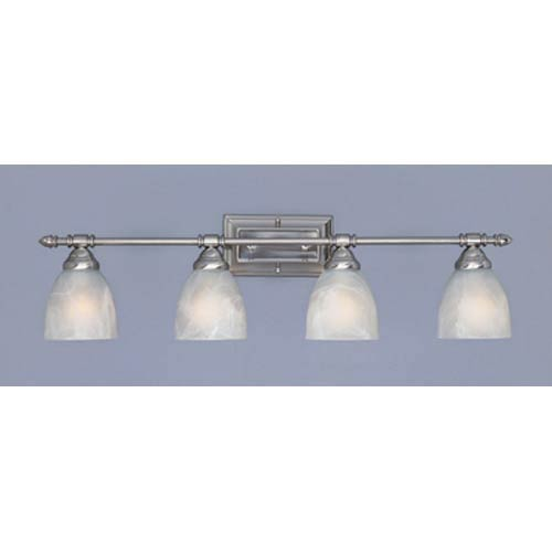 Apollo Satin Platinum Four-Light Bath Fixture