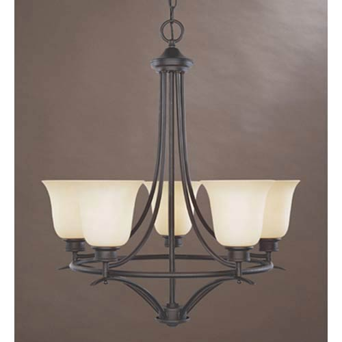 Montego Oil Rubbed Bronze Five-Light Chandelier