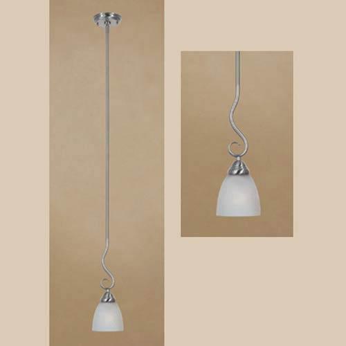 Strata Satin Platinum One-Light Pendant