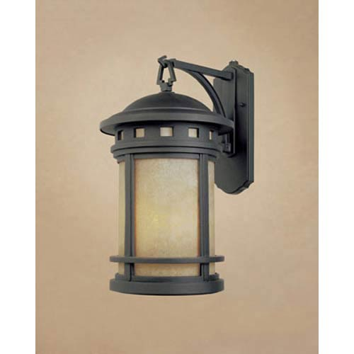 Designers Fountain Sedona Small Oil Rubbed Bronze One-Light Fluorescent Outdoor Wall Light with Photocell