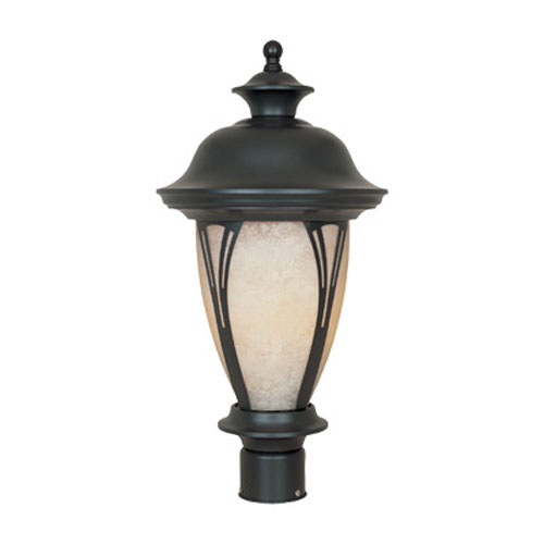 Westchester Bronze One-Light Post Lantern with Photocell