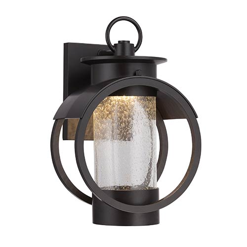 Arbor Burnished Bronze 7.5-Inch Wide LED Outdoor Wall Lantern