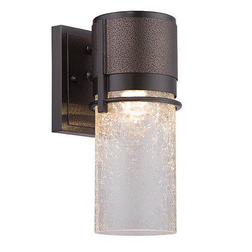 Baylor Burnished and Flemish Bronze 5.5-Inch Wide LED Outdoor Wall Lantern