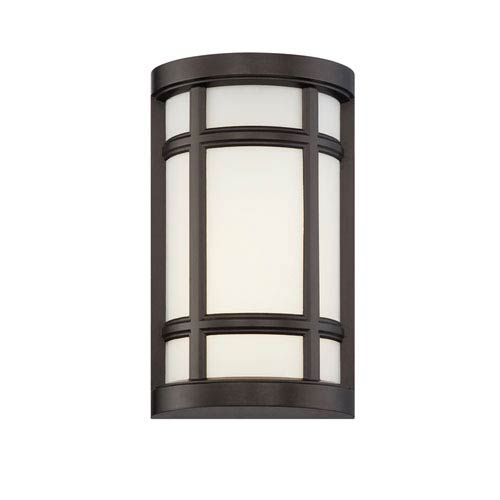 Designers Fountain Logan Square Burnished Bronze LED Outdoor Wall Sconce