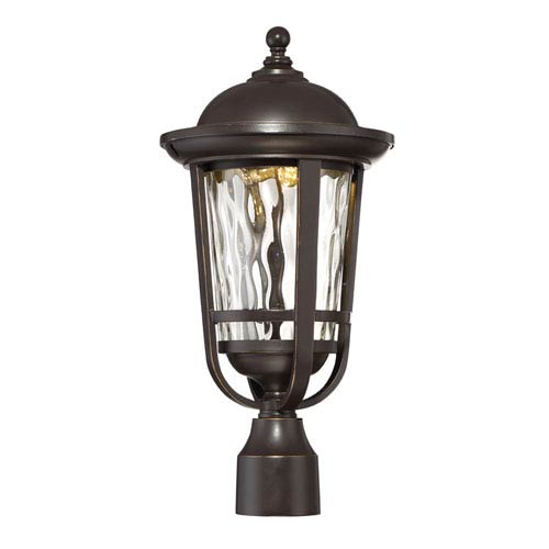 Westbrooke Aged Bronze Patina LED Post Mount