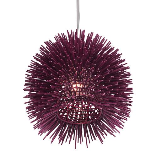 Urchin Plum Nine-Inch One-Light Mini Pendant