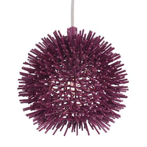 Urchin Plum Six-Inch One-Light Mini Pendant
