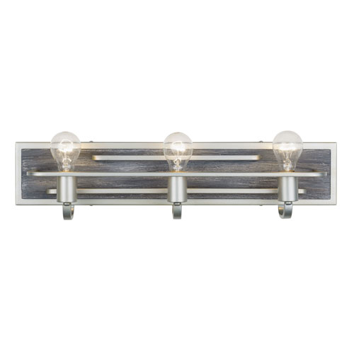 Lofty Silverado and Gray Wood Three-Light Bath Vanity