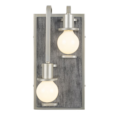 Lofty Silverado And Gray Two-Light Left Wall Sconce