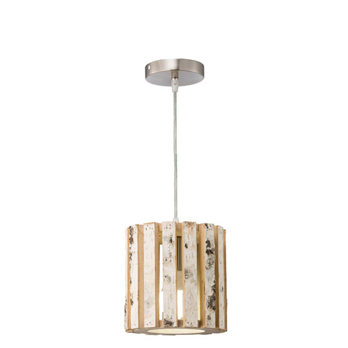 Woody Brushed Nickel One-Light Mini Pendant