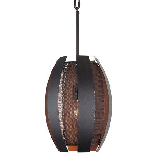 Sawyers Bar Two-Tone Copper Ore One-Light Pendant
