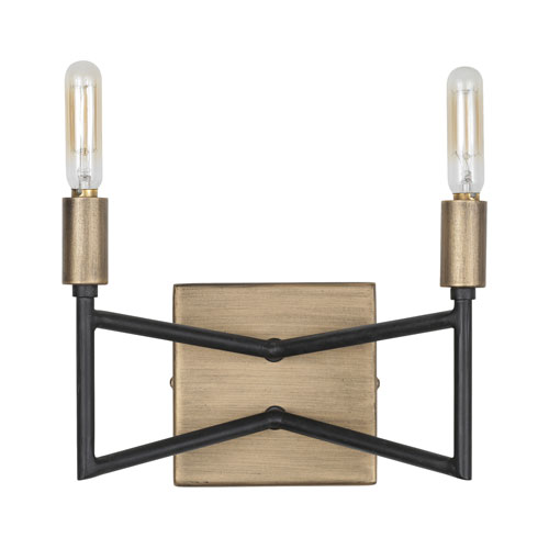 Bodie Havana Gold/Carbon Two-Light Bath Vanity