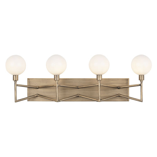 Bodie Havana Gold Four-Light LED Bath Vanity