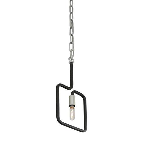Rectangulo Silverado and Black One-Light Mini Pendant
