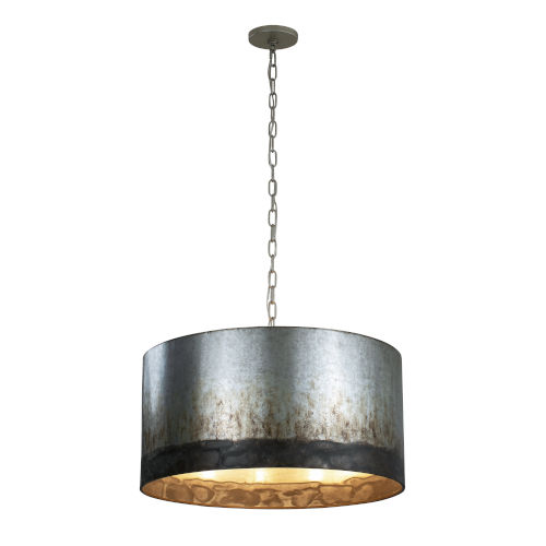 Cannery Ombre Galvanized Four-Light Pendant