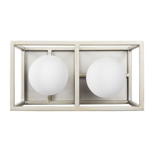 Varaluz Plaza Silverado And Carbon Two-Light LED ADA Bath Vanity