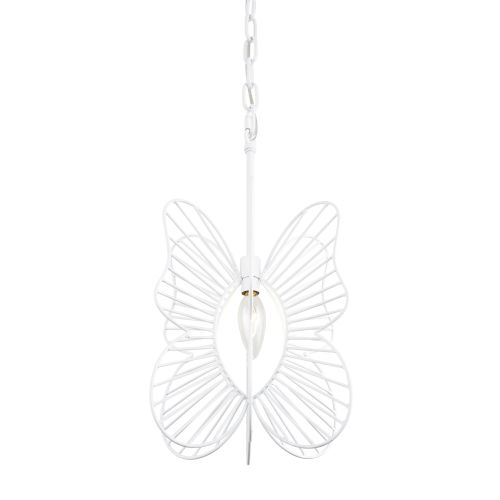Monarch White One-Light Mini Pendant