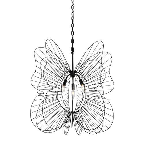 Monarch Black Three-Light Pendant