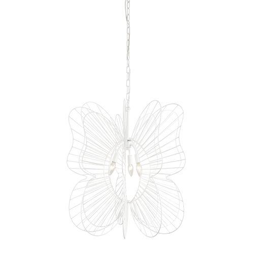 Monarch White Three-Light Pendant