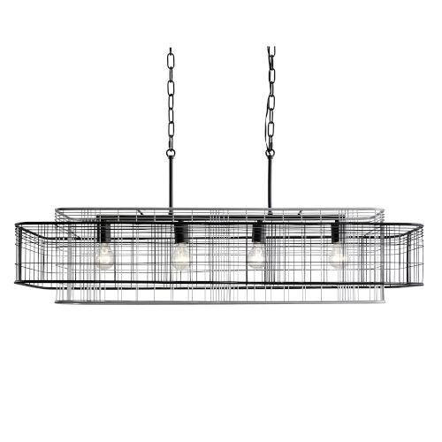 Vivienne Black and Gray 17-Inch Four-Light Linear Pendant