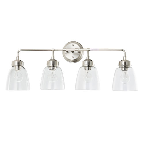 Helena Satin Nickel Four-Light Bath Vanity