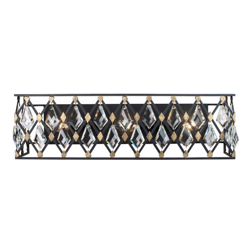 Windsor Carbon and Havana Gold Three-Light Wall Sconce