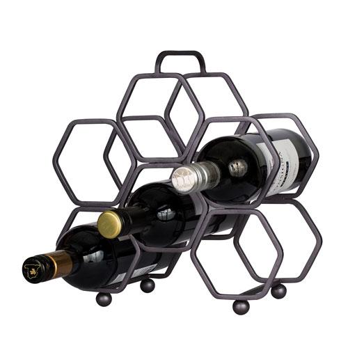 Casa Rustic Bronze Wine Rack