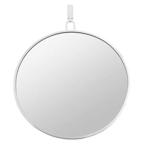 Casa Polished Nickel Round Wall Mirror
