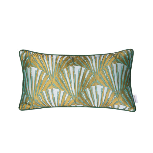 Casa Green and Gold 11-Inch Throw Pillow