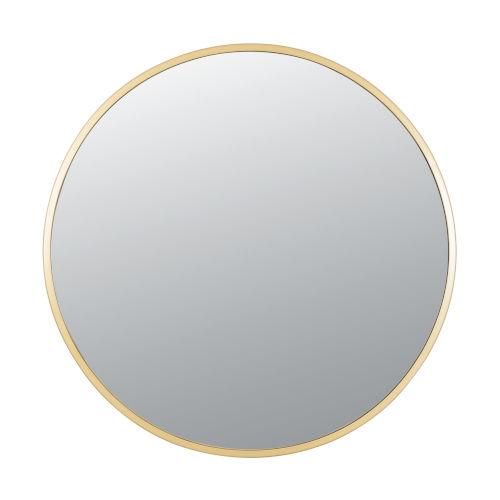 Cottage Gold Round Wall Mirror